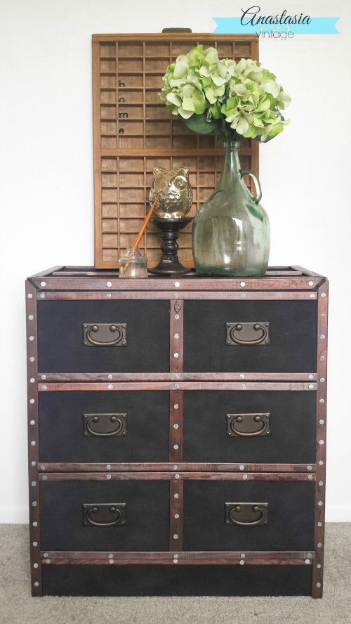 Pottery Barn Ludlow Trunk Inspired IKEA Rast Hack Anastasia Vintage