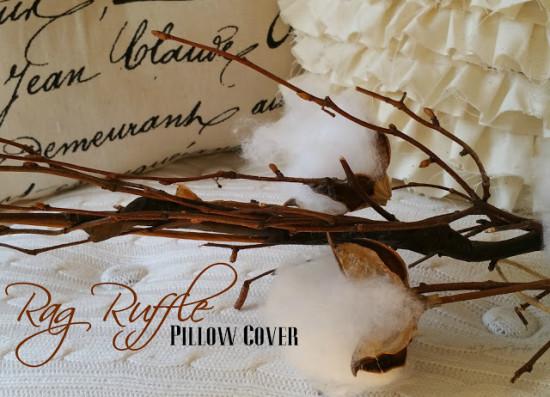 Rag Ruffle pillow cover