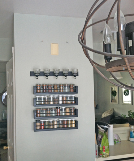 Spice Rack Wall Before