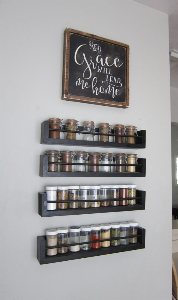 Kitchen Wall Spice Rack – Small Changes Big Impact