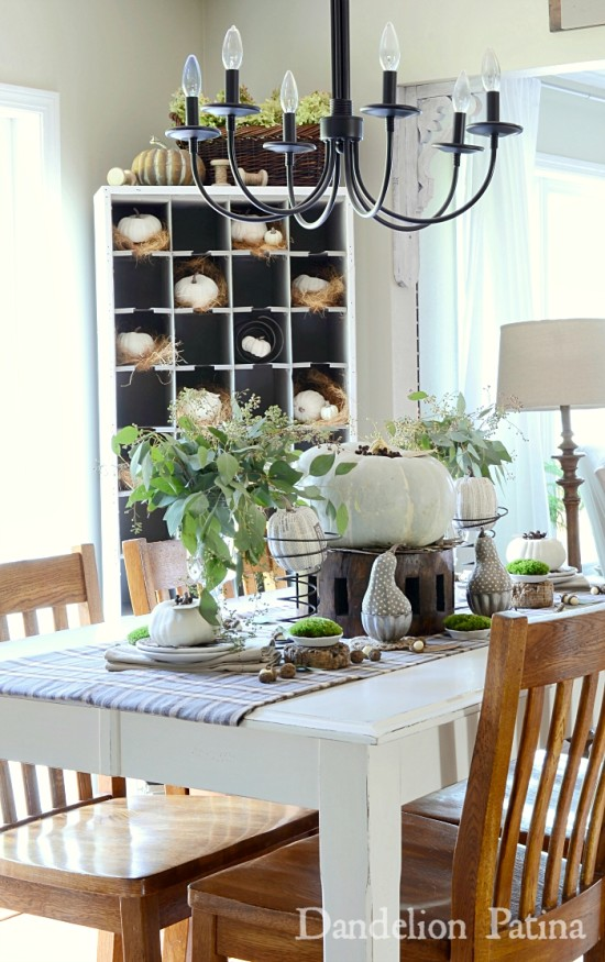 fall-home-tour-dining-room dandelion patina