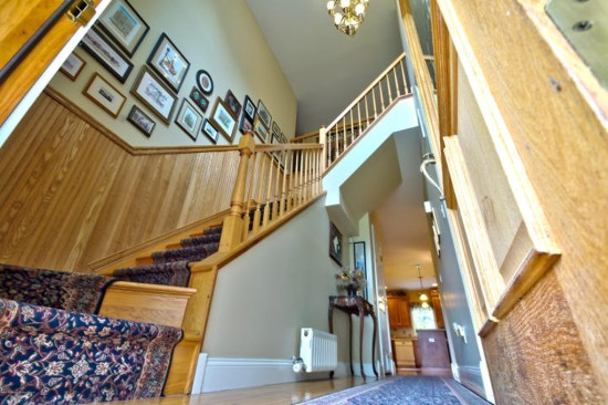 stairs with beadboard