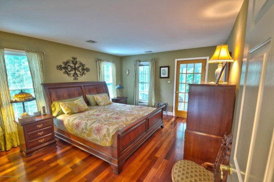 master bedroom with attached porch