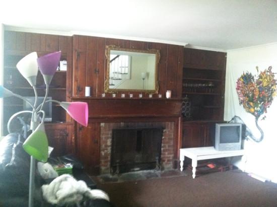 dark living room before