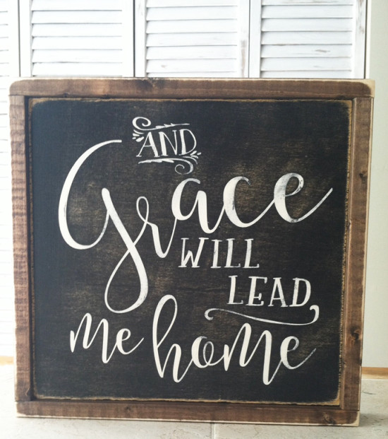 Grace will lead me home print