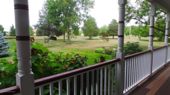 view from the porch