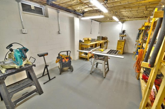 workshop in basement
