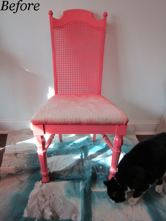 Before - Curbside Chair Makeover