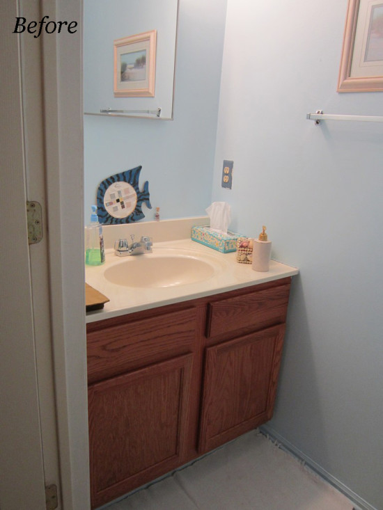 Before - half Bath makeover