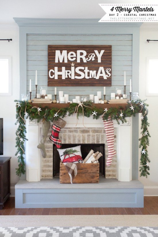 Coastal-Christmas-Mantel-The-Lettered-Cottage-Decorating-Series1-600x900