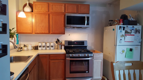 Kitchen after microwave