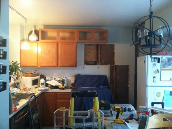 Kitchen before microwave