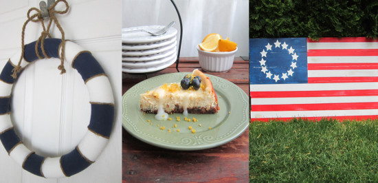 Summer Wreaths, emon Cheesecake, DIY Flag
