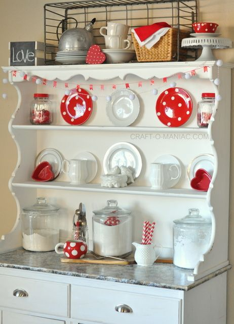 Valentine's Day Hutch
