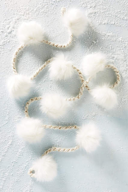 anthropologie pom pom garland