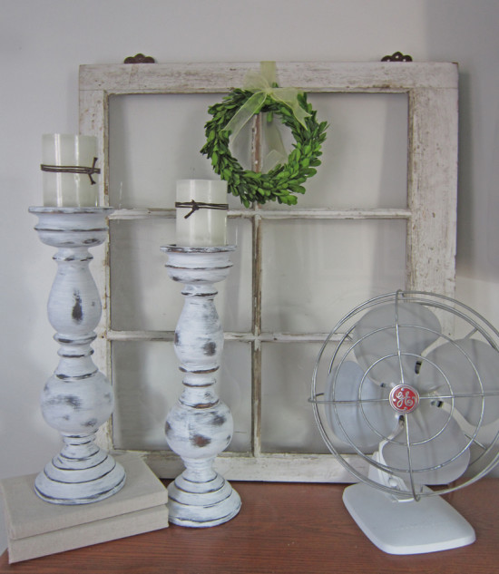 Annie Sloan Chalk Painted Candlesticks the Honeycomb Home