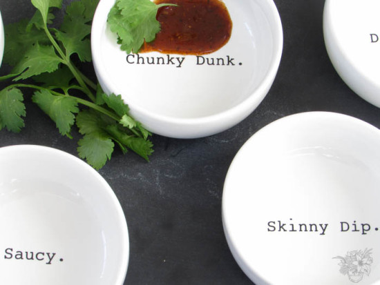 Personalized Dipping Saucers