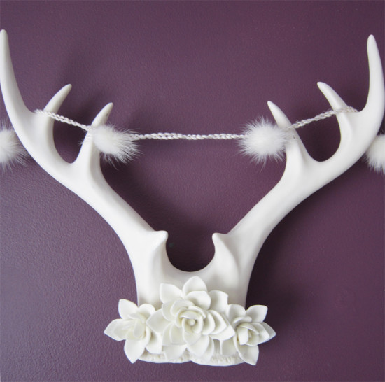 antlers and garland