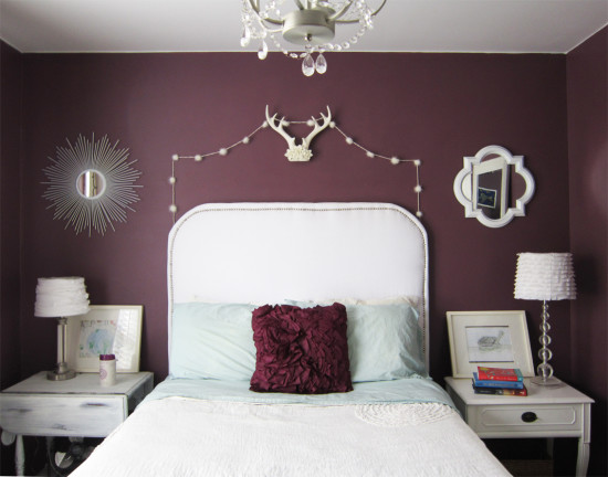 purple walls white accents