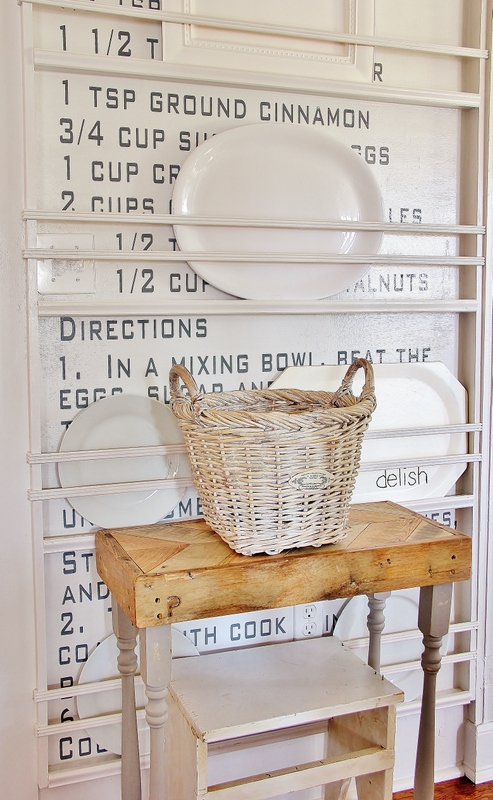 recipe wall plate rack thistlewood