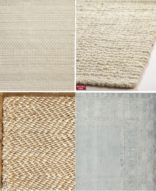 Neutral & natural area rugs