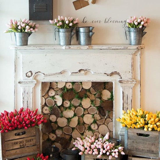 Fireplace with Logs from Magnolia Market
