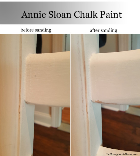 Annie Sloan Chalk Paint Sanding before and after