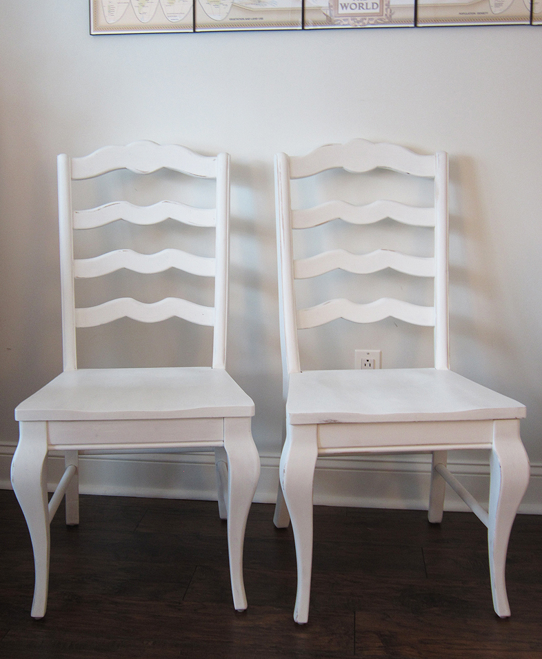 Chalk Painted Chair Makeover