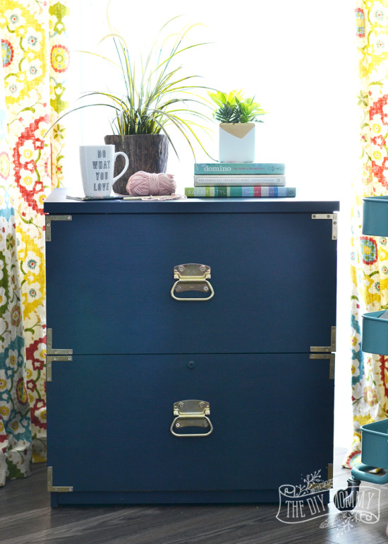 Amazing filing cabinet makeover!