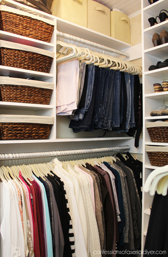 Walk in closet makeover