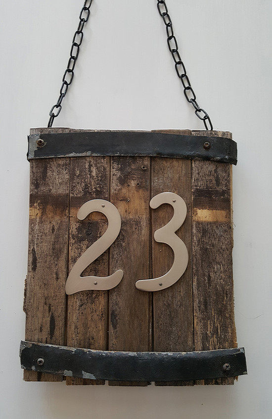 Rustic House Number Sign 23