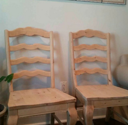 ladder back chair makeover