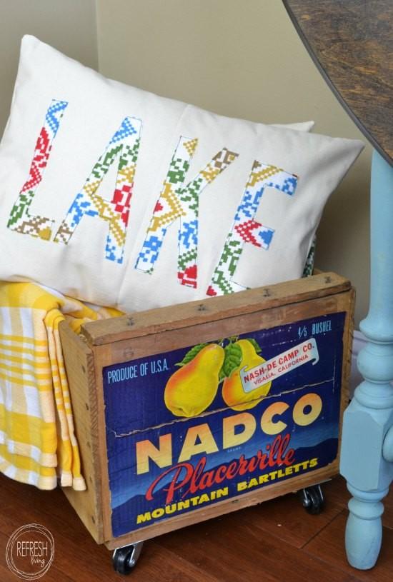 DIY Lettered Pillow