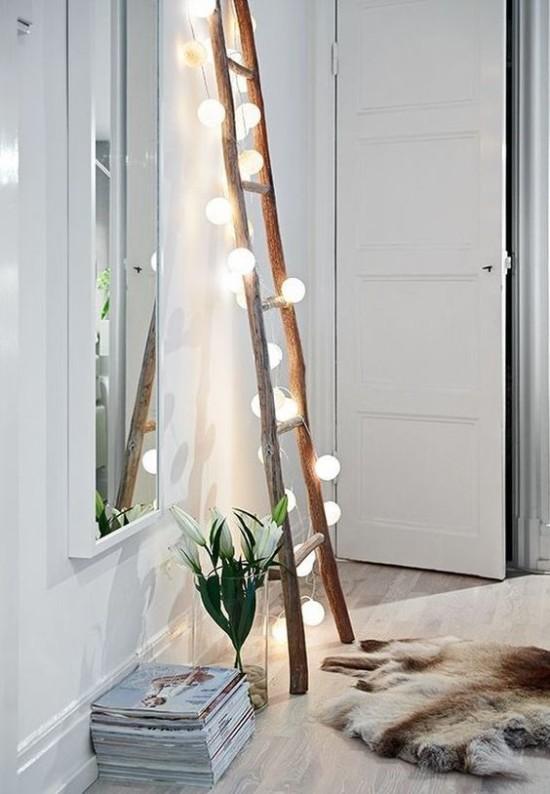 mood lighting with string lights