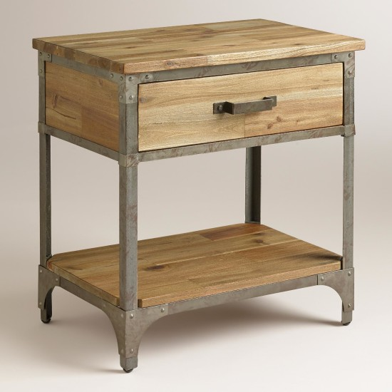 rustic side table