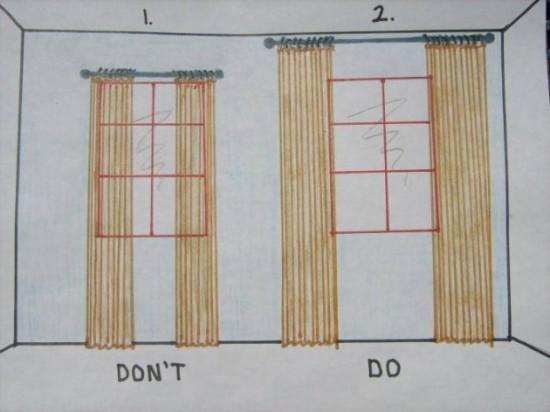the correct way to hang curtains