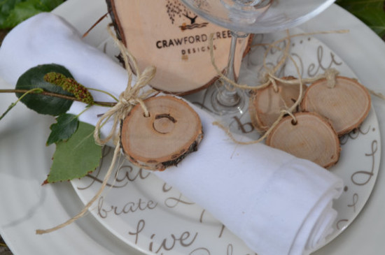 birch wood slice tags
