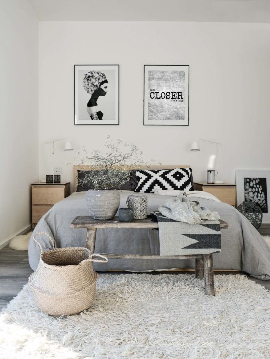 Scandinavian bedroom designs-less is more!