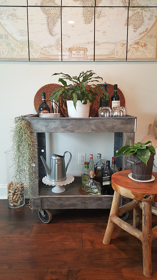 Spring Bar Cart & St. Patrick's Day Home Tour