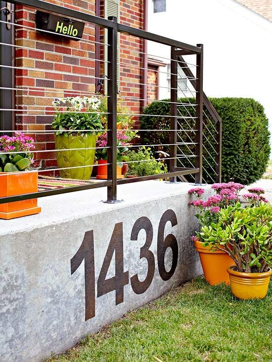 Curb Appeal Tips, Large House numbers
