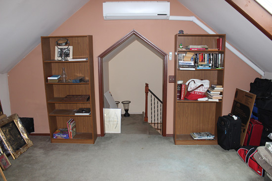 third floor finished attic space