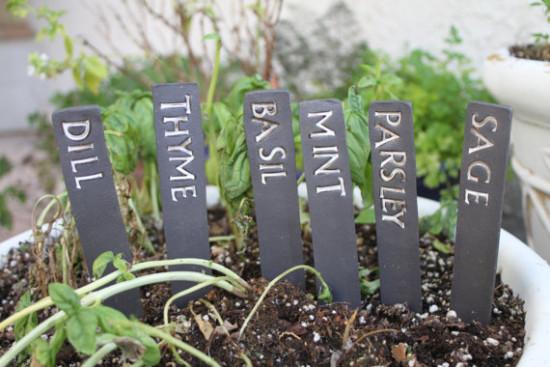 ceramic herb markers