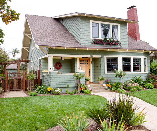 curb appeal craftsman landscaping