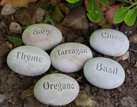 custom engraved stone plant markers