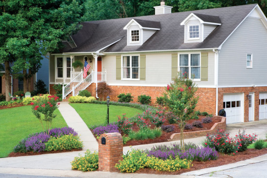 curb appeal tips-front yard landscape