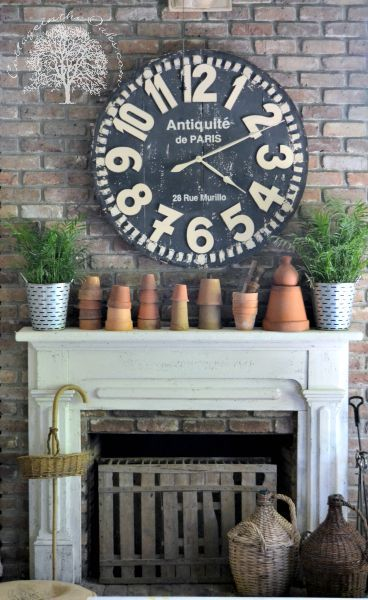 terra cotta Spring mantel from Cottage in the Oaks