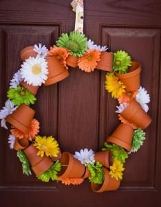 terra cotta wreath