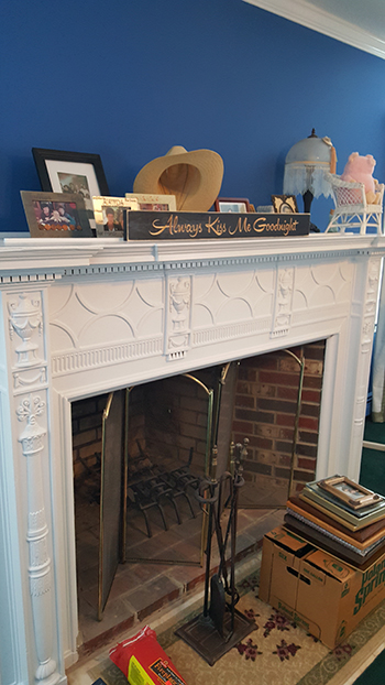 white victorian fireplace