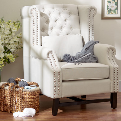 wing back chair wayfair