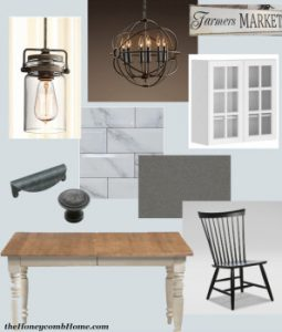 Kitchen Design Board theHoneycombHome.com